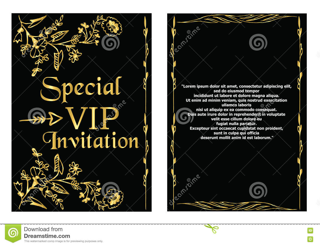 Vip invitation card template stock vector illustration of company download vip invitation card template stock vector illustration of company print 75085551 stopboris Image collections
