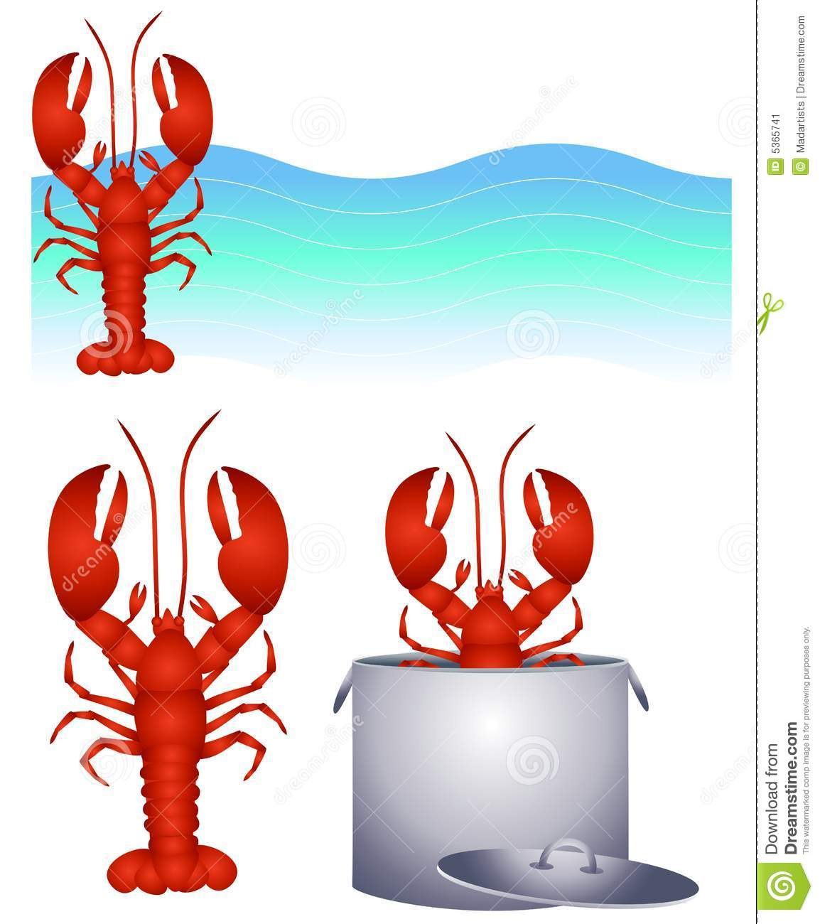 Red lobster clip art and logo stock image image 5365741