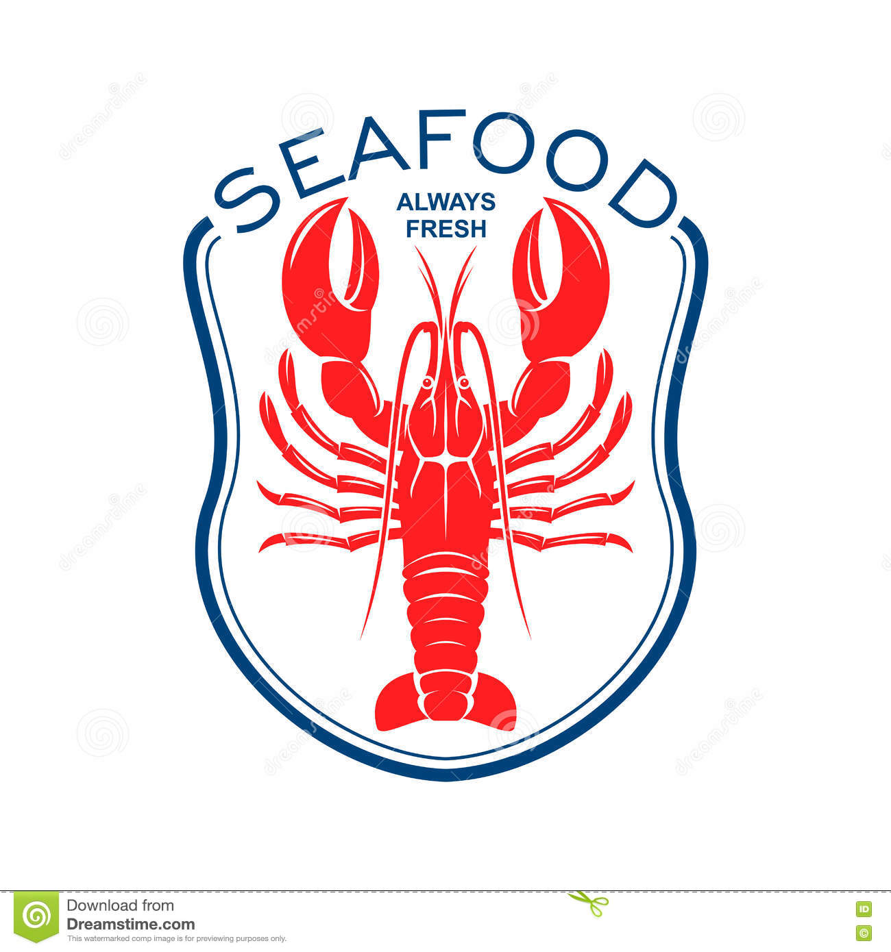 Red Lobster Icon For Seafood Restaurant Design Stock Vector - Image: 73195180