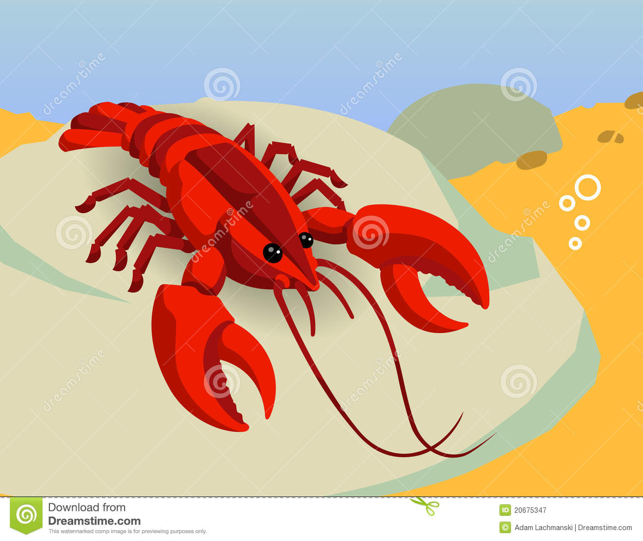 Red Lobster Ocean Vector Royalty Free Stock Photography - Image: 20675347