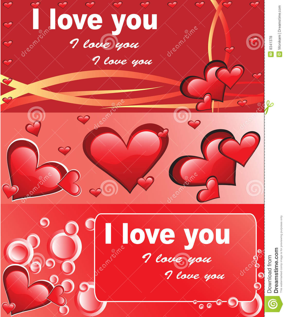 Red Love Cards Royalty Free Stock Photos - Image: 8341378