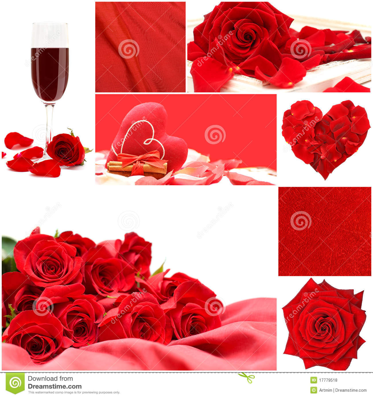 red love collage with roses vine glass and heart stock photo image of quadratic fragility. Black Bedroom Furniture Sets. Home Design Ideas
