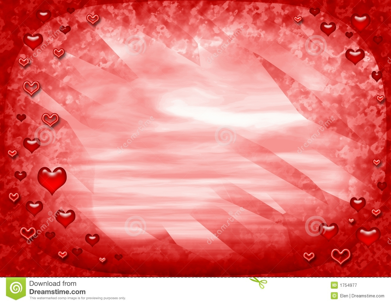 Red love frame stock illustration  Illustration of gift