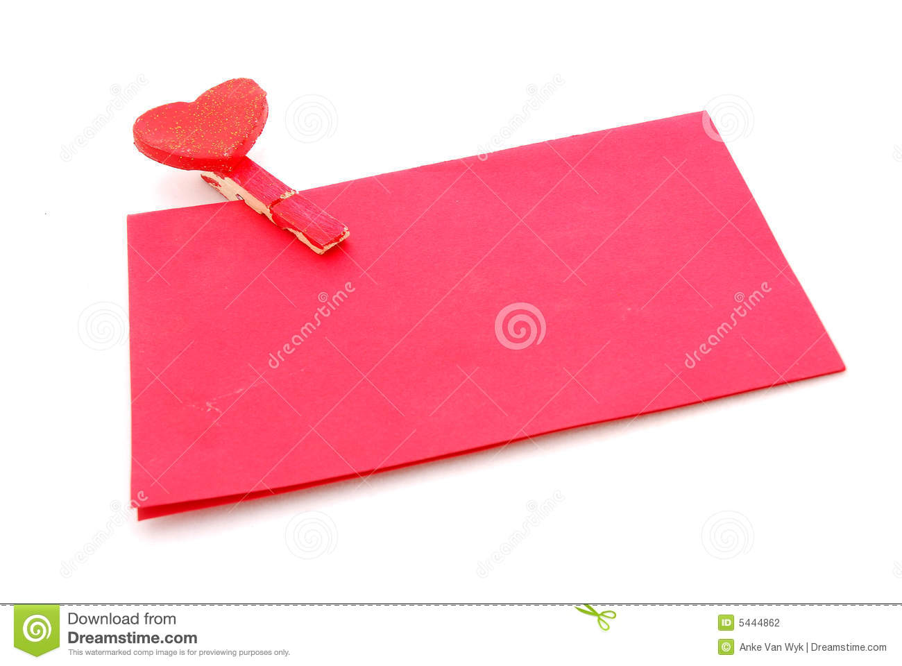 Red Love Letter Stock Photography - Image: 5444862