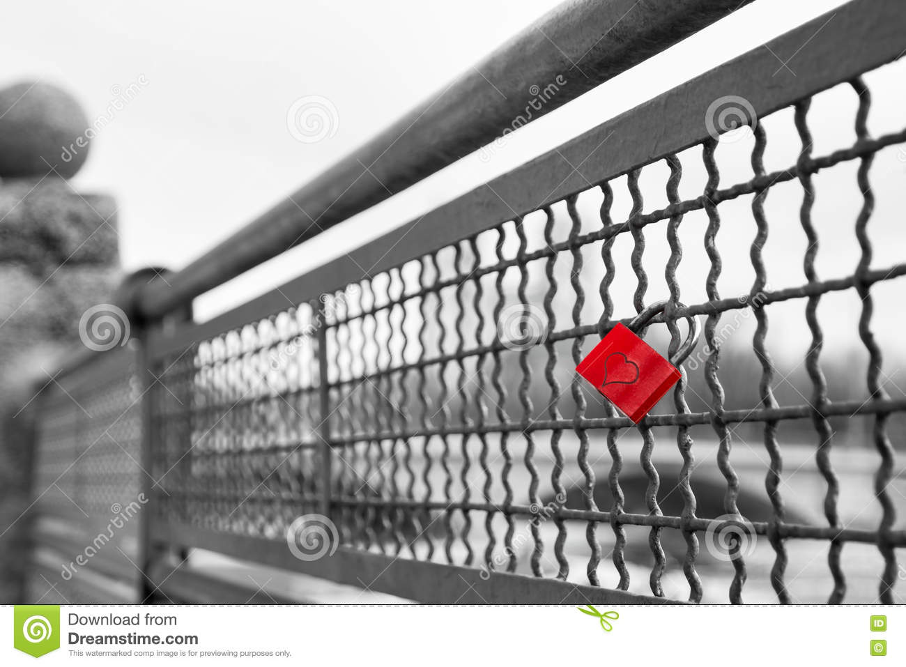 Red Love Lock Padlock With Heart Symbol Of Unbreakable ...