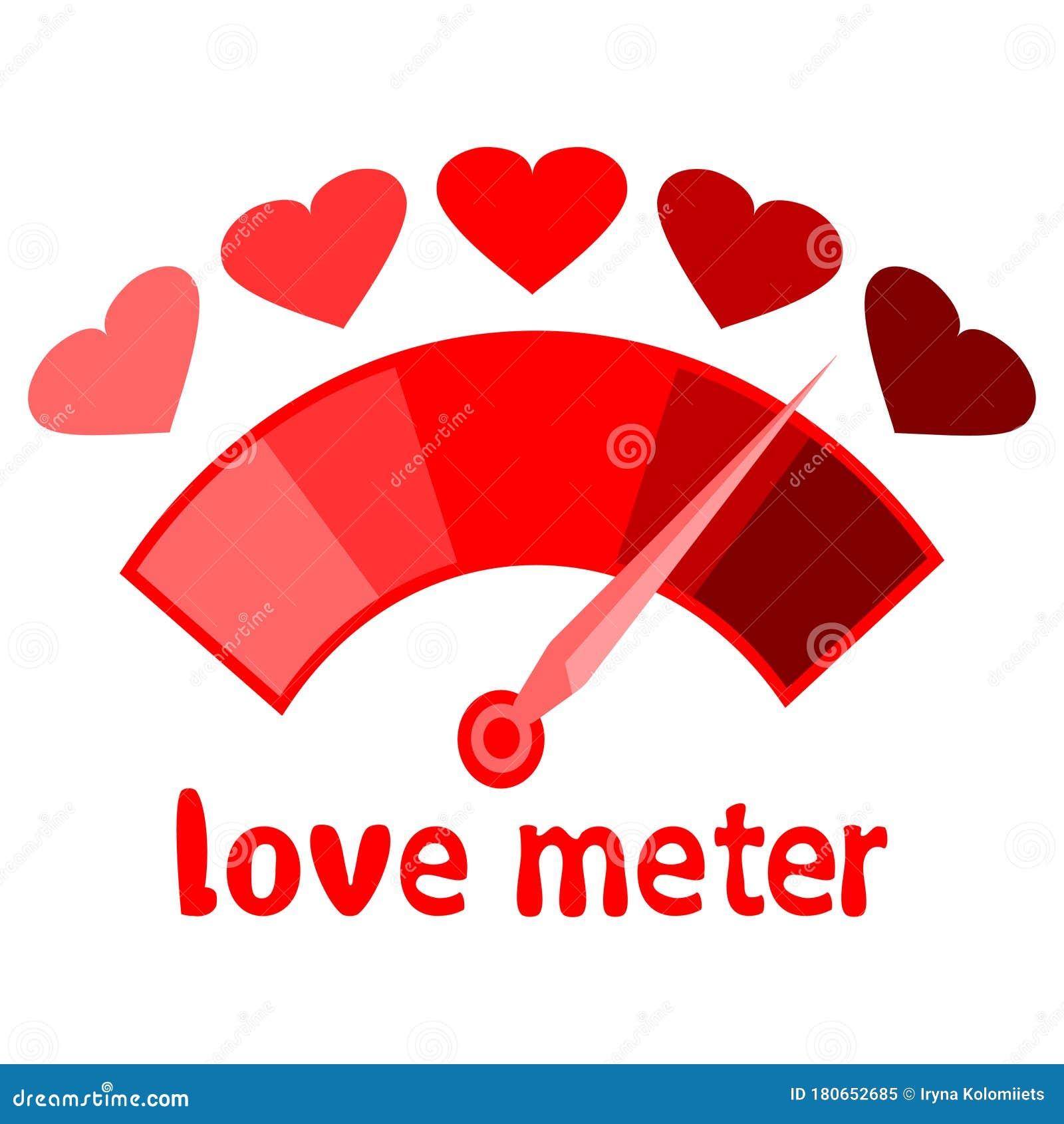red love meter vector love meter valentines day card