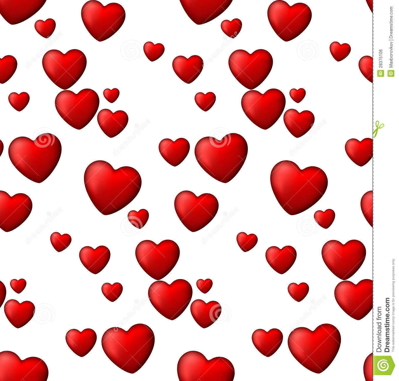 Red Love Seamless Background Of Heart Bubbles. Stock Vector ...