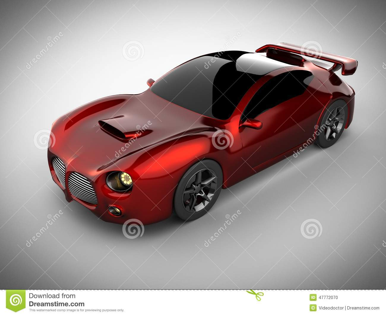 Sport Car In A White Background Stock Photography ...