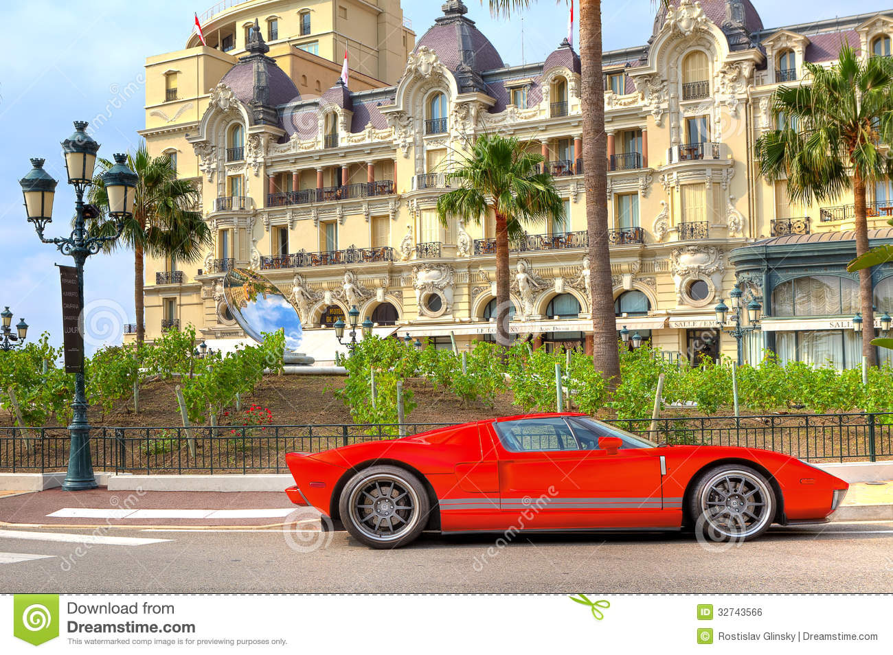 red luxury car in front of hotel de paris at monte carlo monaco editorial photo image of. Black Bedroom Furniture Sets. Home Design Ideas