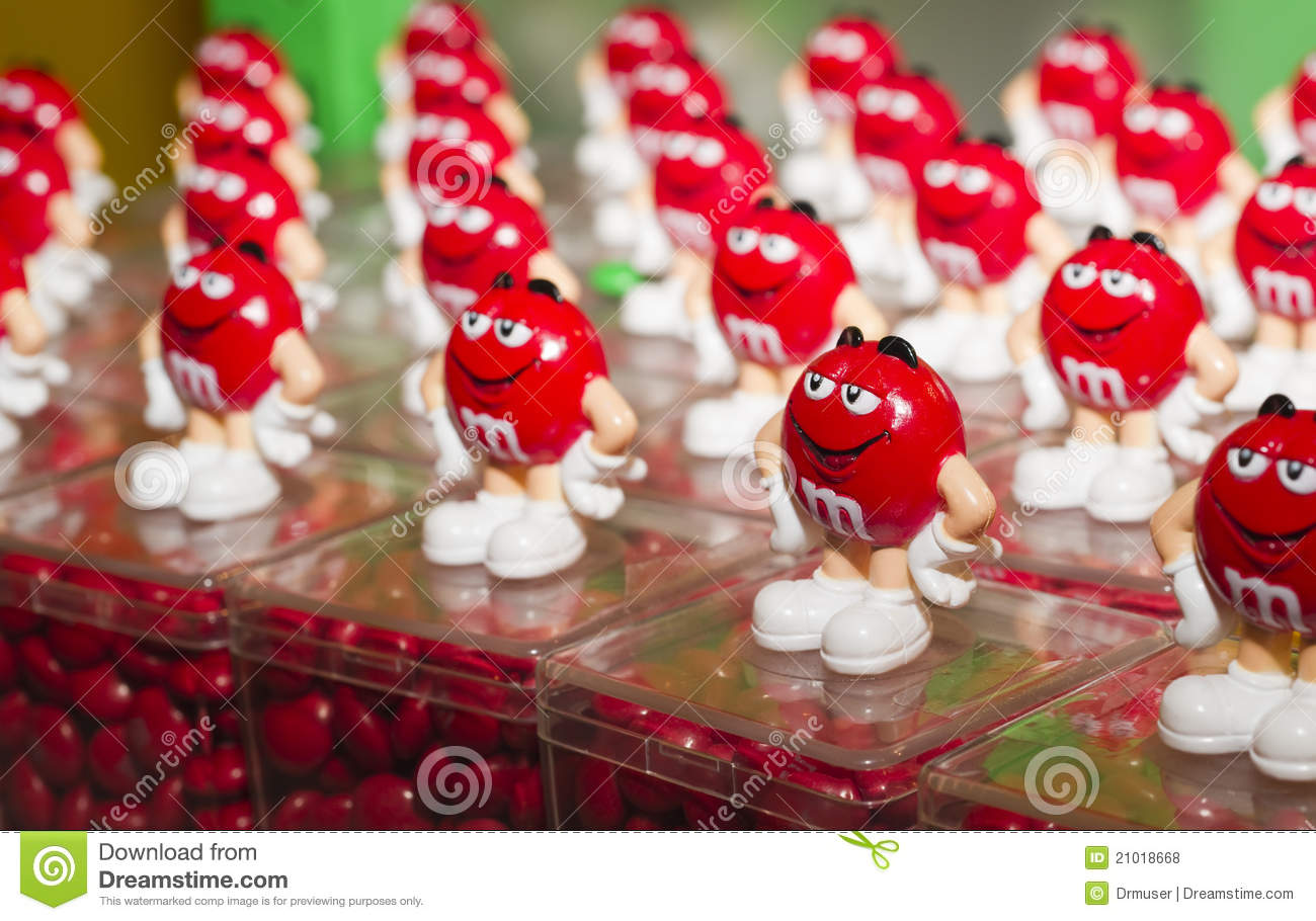 Red M Amp M S Souvenir Toy Editorial Stock Photo Image 21018668