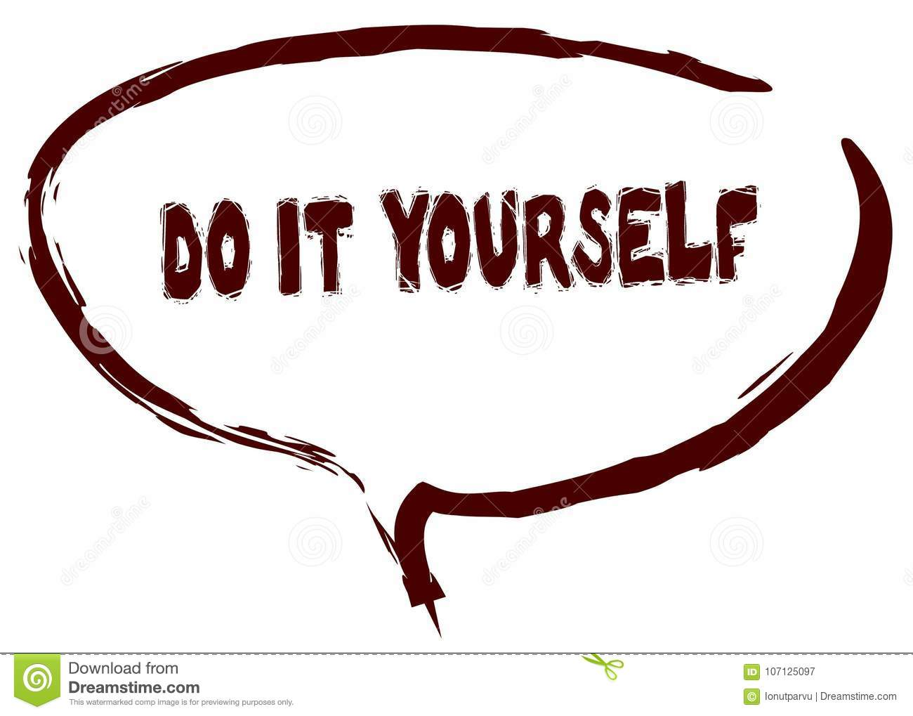 Red marker sketched speech bubble with do it yourself message stock download comp solutioingenieria Choice Image