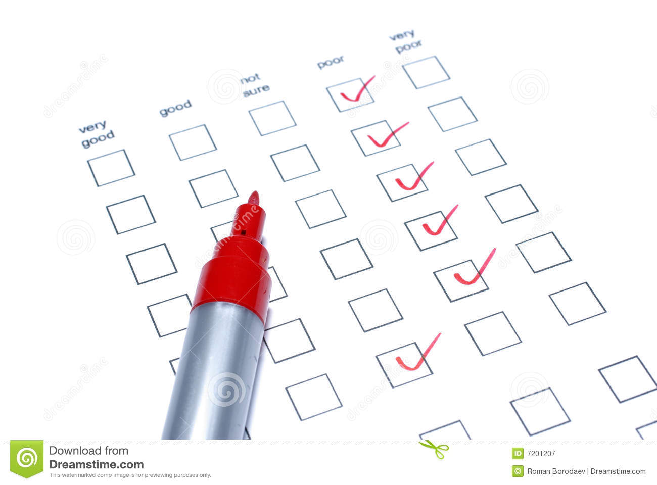 Red Tick Box : Red tick in a check box list stock photography