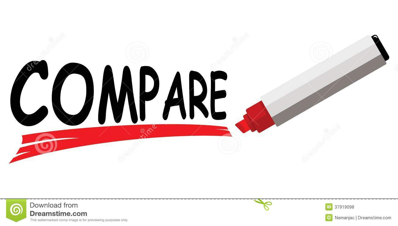 Red Marker Underlining Word Compare Thank You Stock Photos Royalty