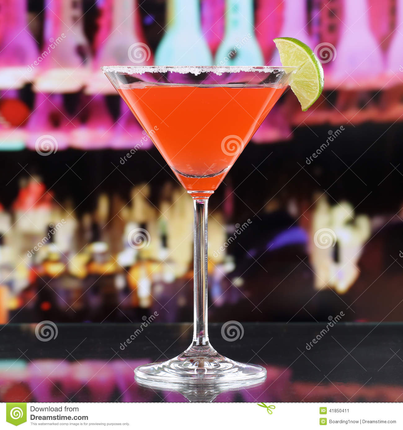 red martini cocktail drink in a bar or disco stock image image 41850411. Black Bedroom Furniture Sets. Home Design Ideas