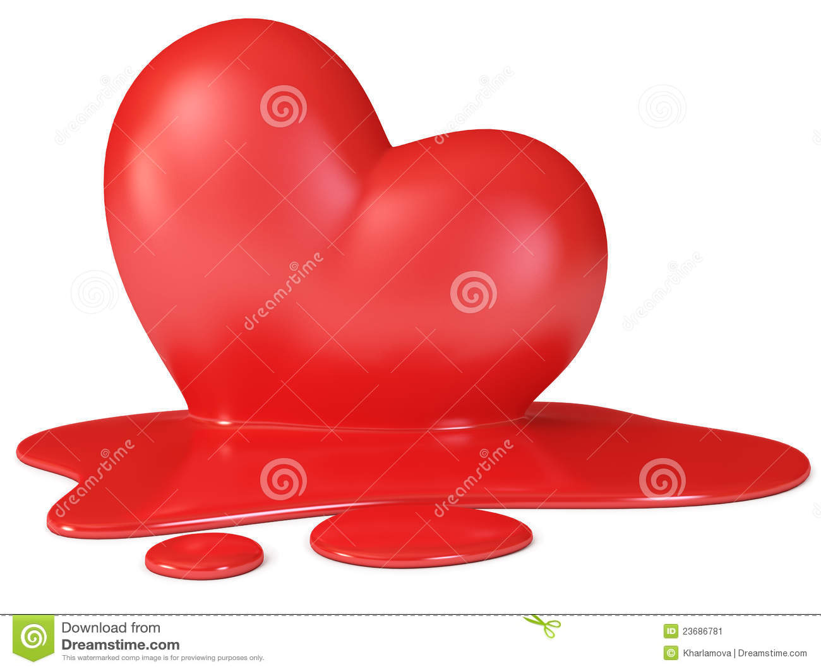 Red Melting Heart Stock Image - Image: 23686781
