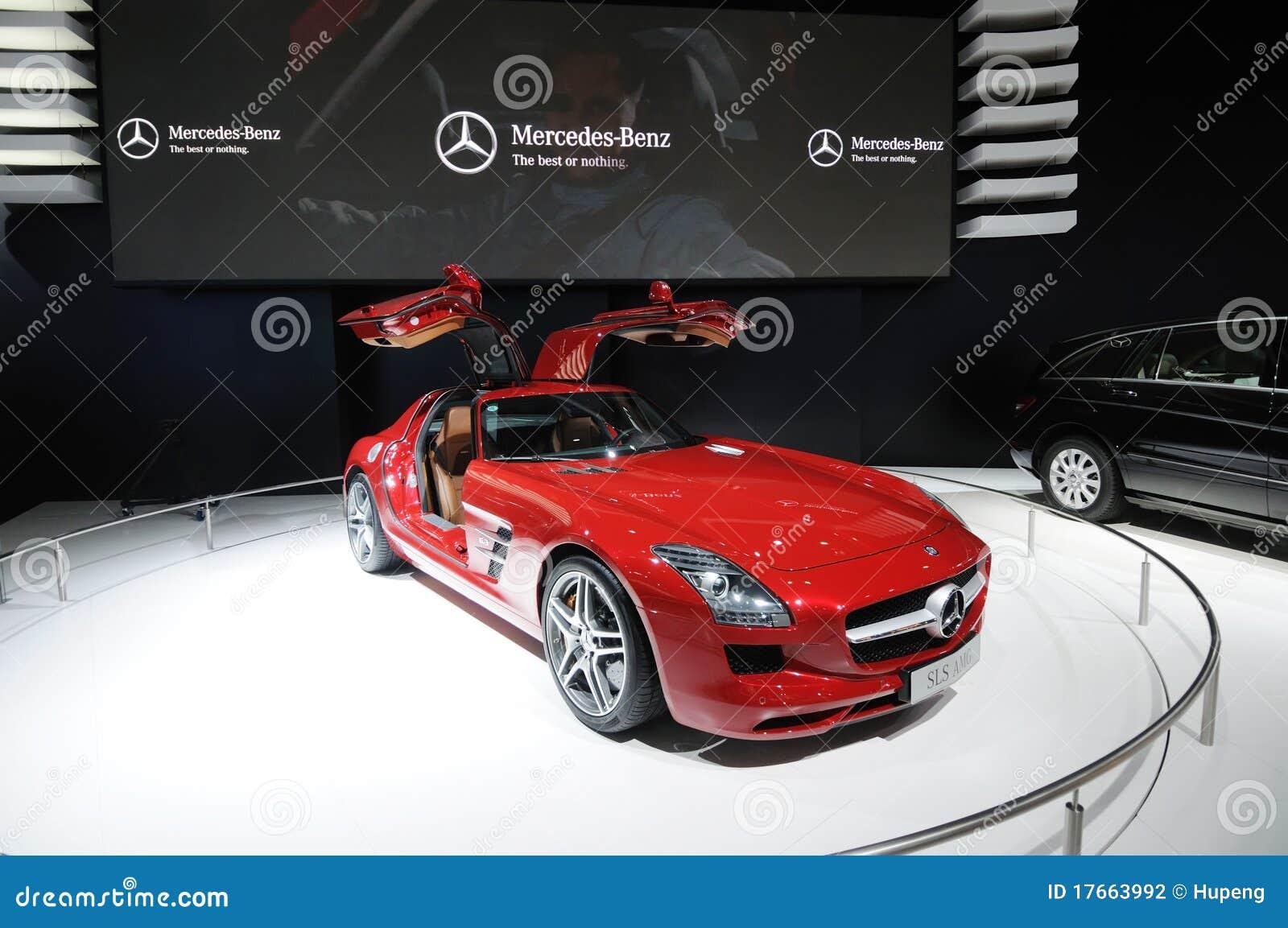 Red mercedes benz sls amg car editorial photography for Mercedes benz sls amg red