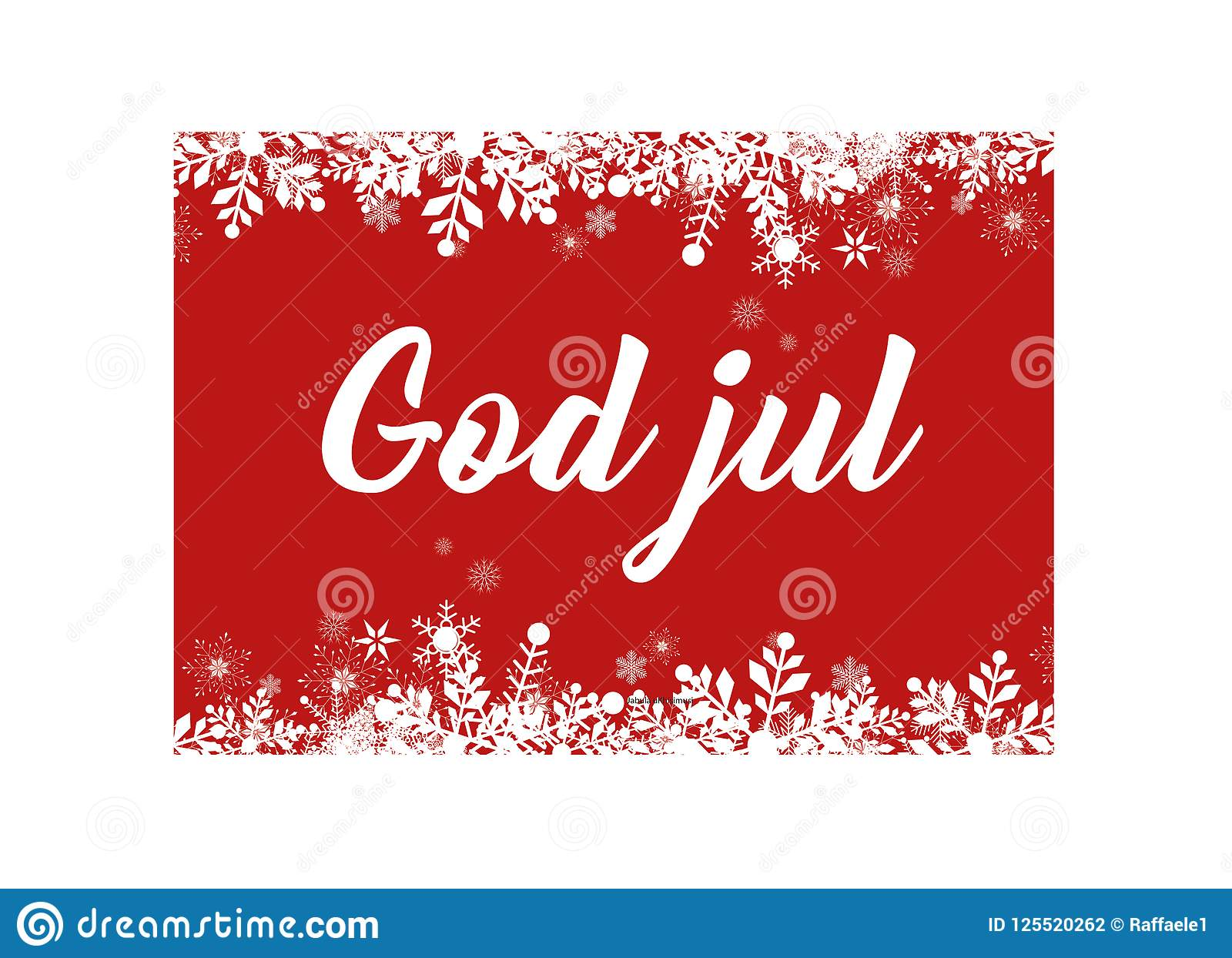 Merry Christmas In Norwegian.Red Merry Christmas In Danish And Swedish Norwegian Greeting