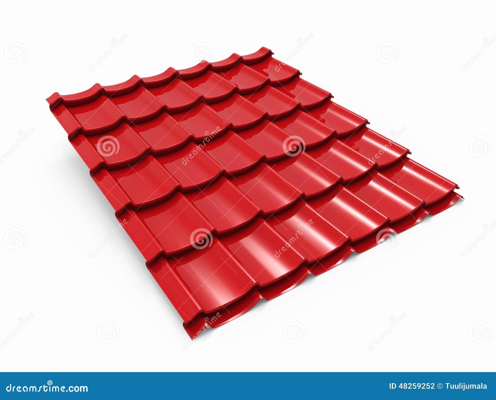 Red Metal Roof Tile Sheet Stock Illustration Image 48259252