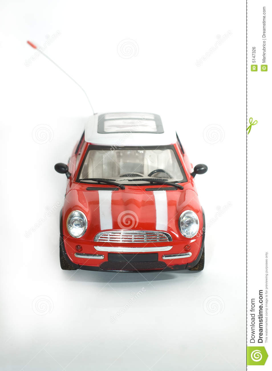 Red Mini Cooper Toy Car Stock Photo Image Of Remote Control 5147326