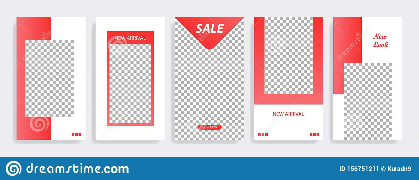Red minimal geometric Instagram layout banner template