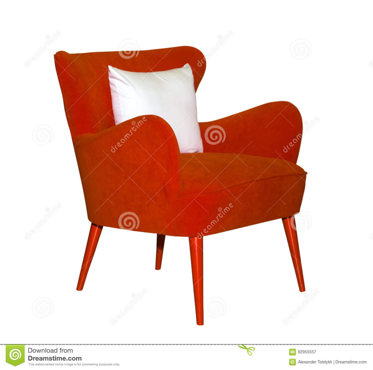 red modern chair isolated stock photo  image  - red modern chair isolated stock photo