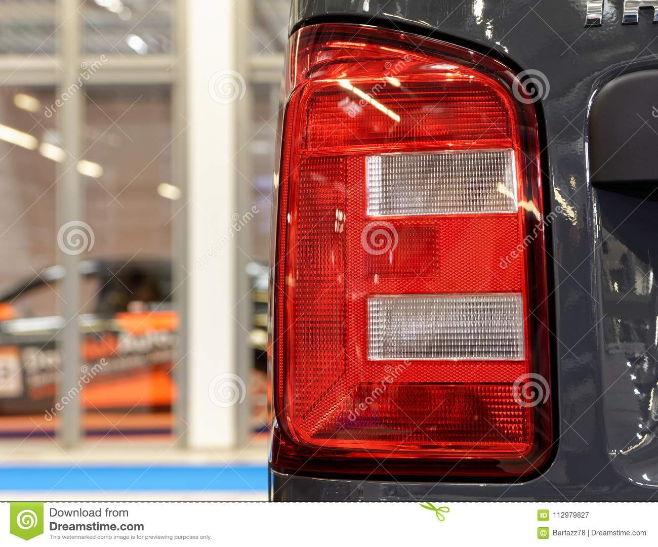 Modern and stylish red rear headlight