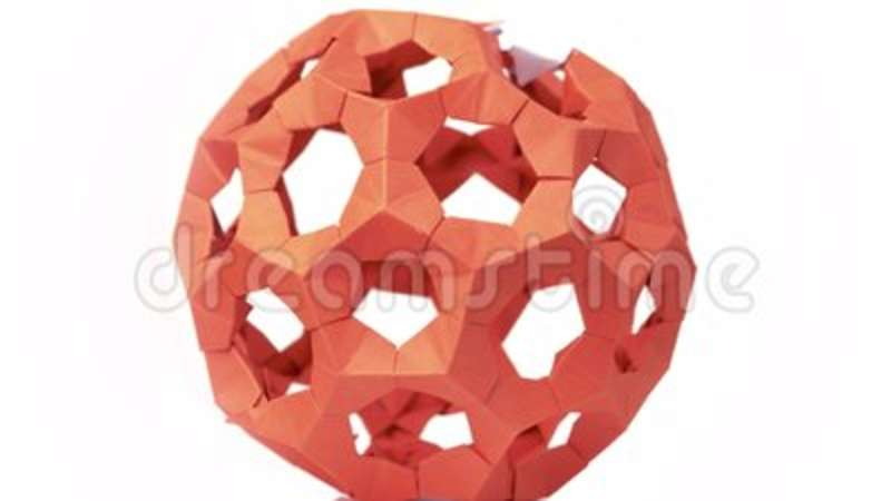 Red Modular Origami Ball Close Up Stock Video Video Of Asteroid