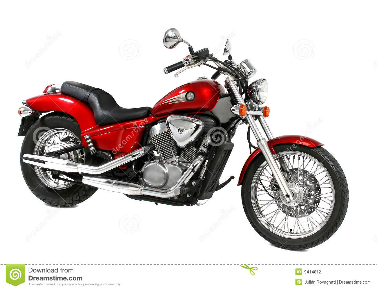 Red Motorcycle Stock Photography Image 9414812
