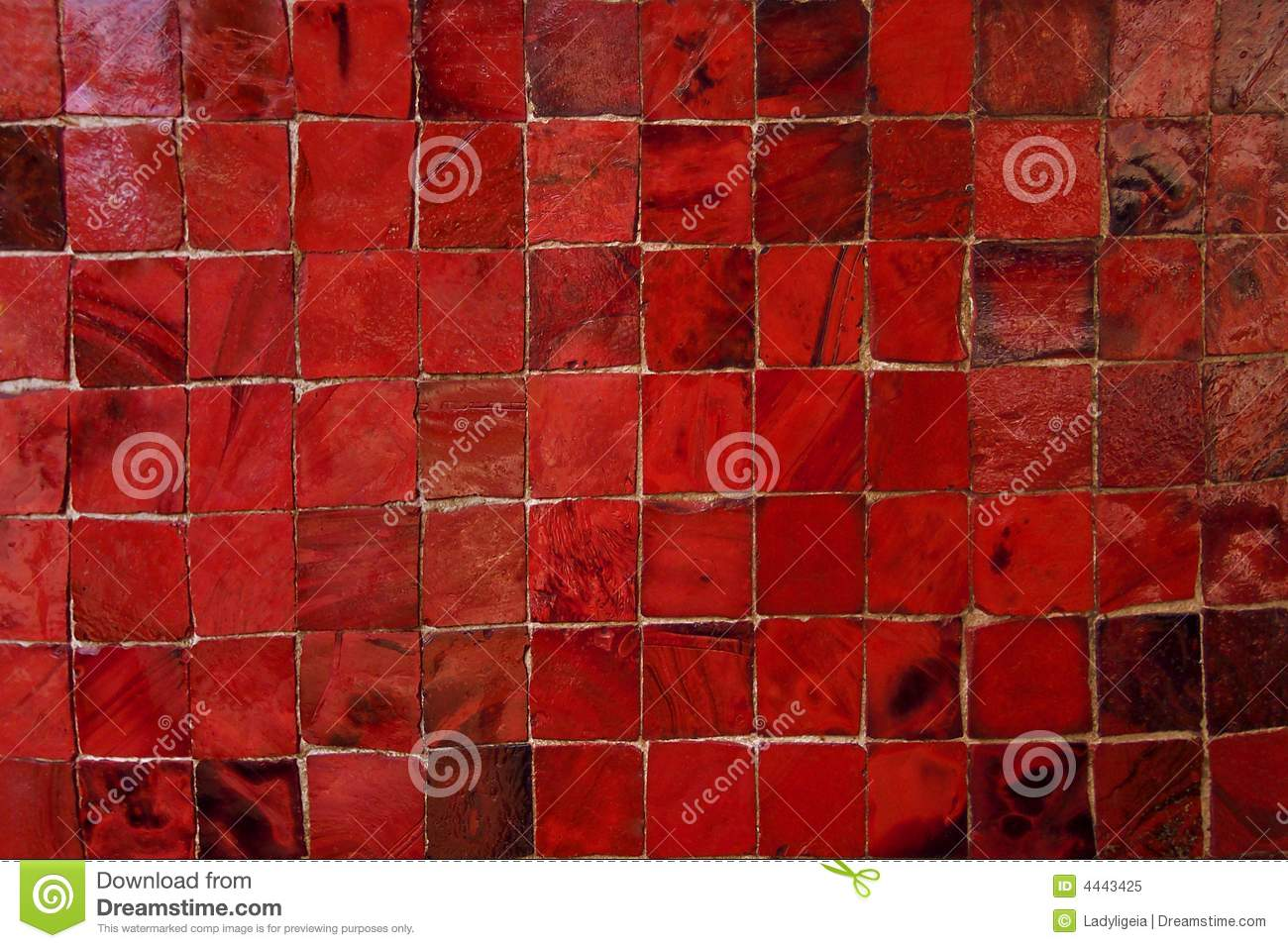 Red Murano Glass Tiles Pattern Stock Image Image Of