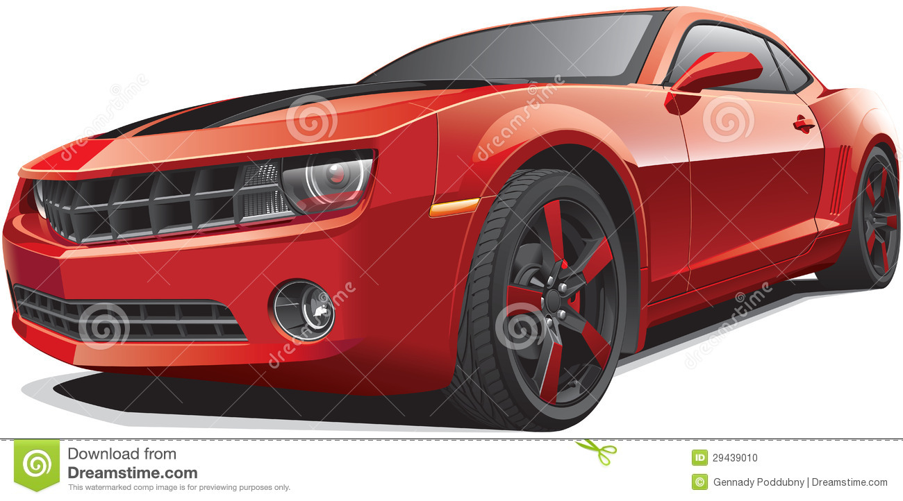 Red Muscle Car Stock Vector Illustration Of Styling 29439010