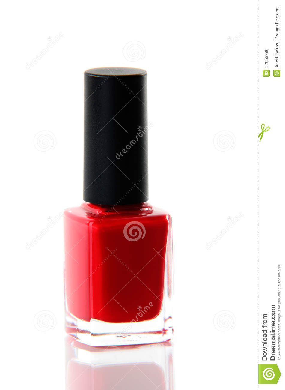 Red Nail Polish Bottle Over White Royalty Free Stock Image ...