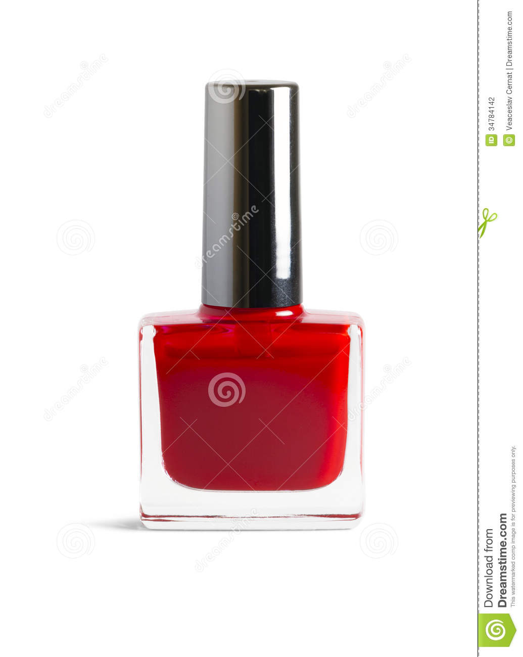 Red Nail Polish Stock Photo Image Of White Bottle Isolated