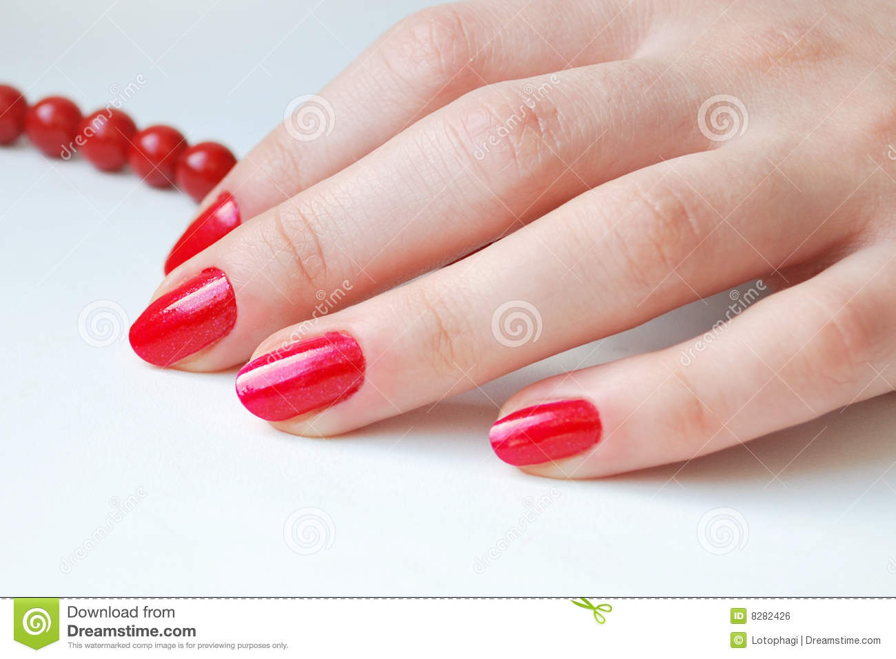 Download Red Nails stock photo. Image of bijouterie, color, glass - 8282426