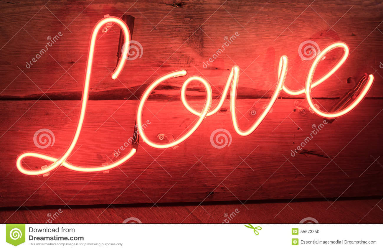 background love neon red sign ...