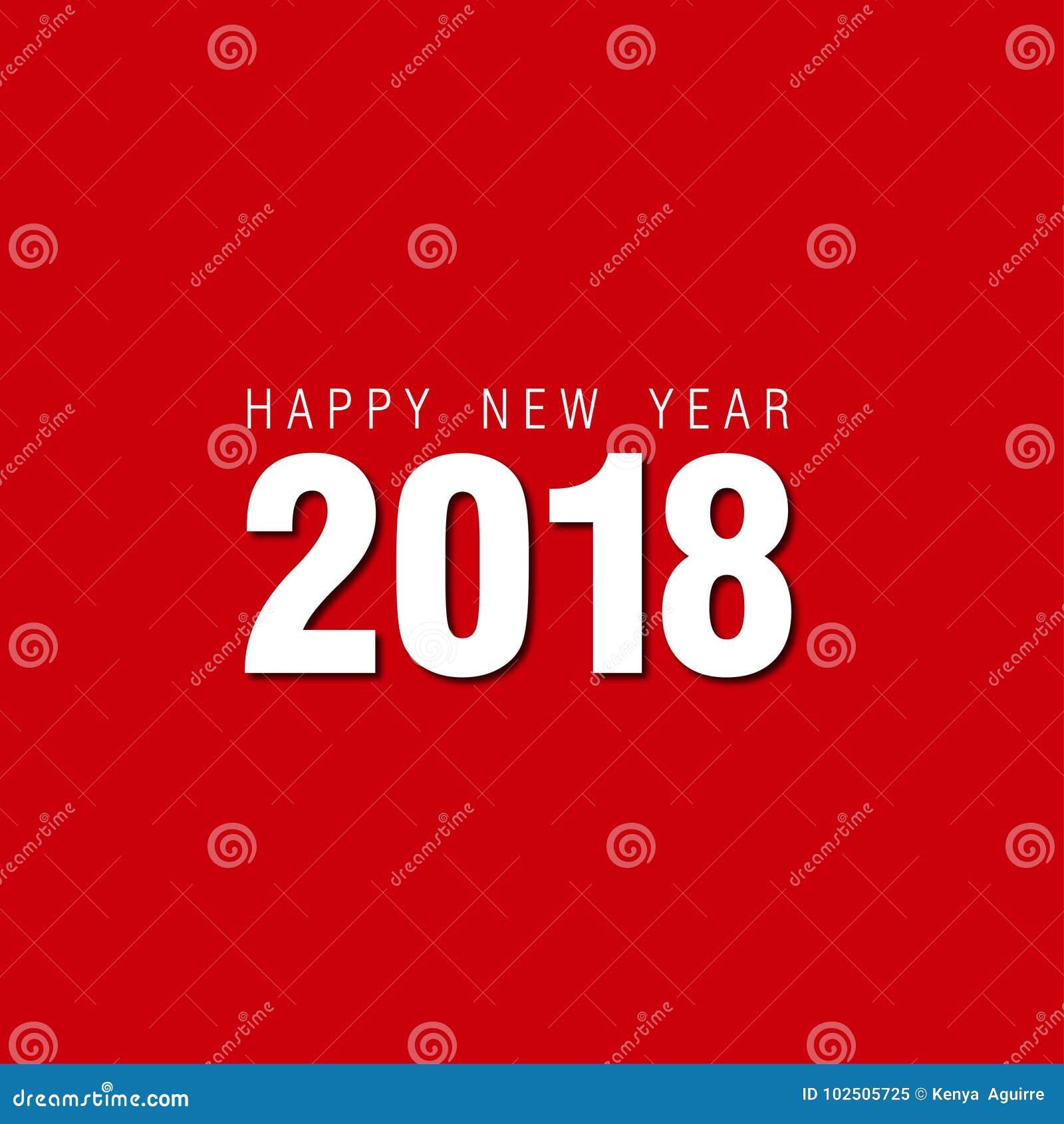 red new year background2018 vectordesign