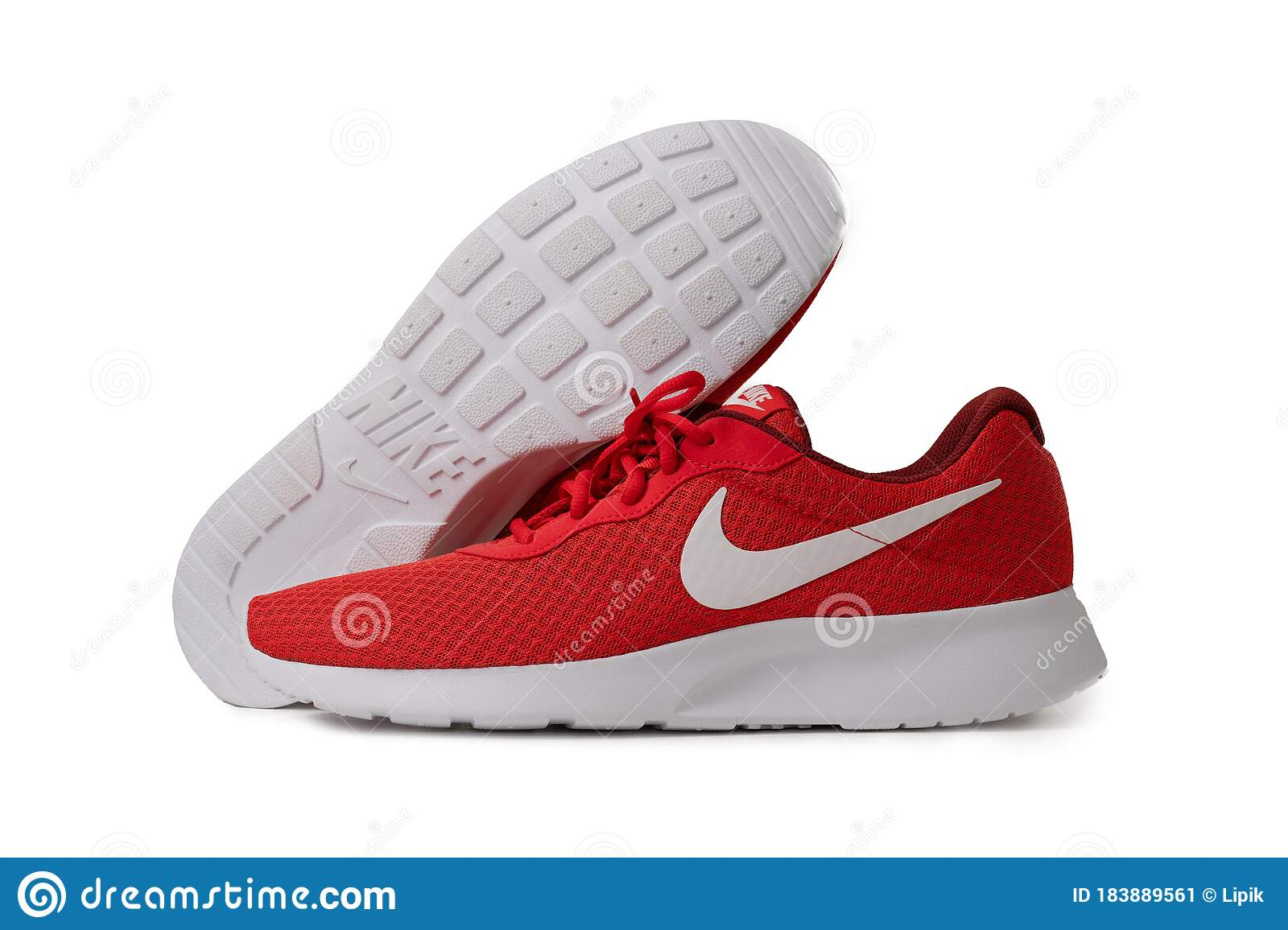 Red Nike Brand Sneakers. Lightweight