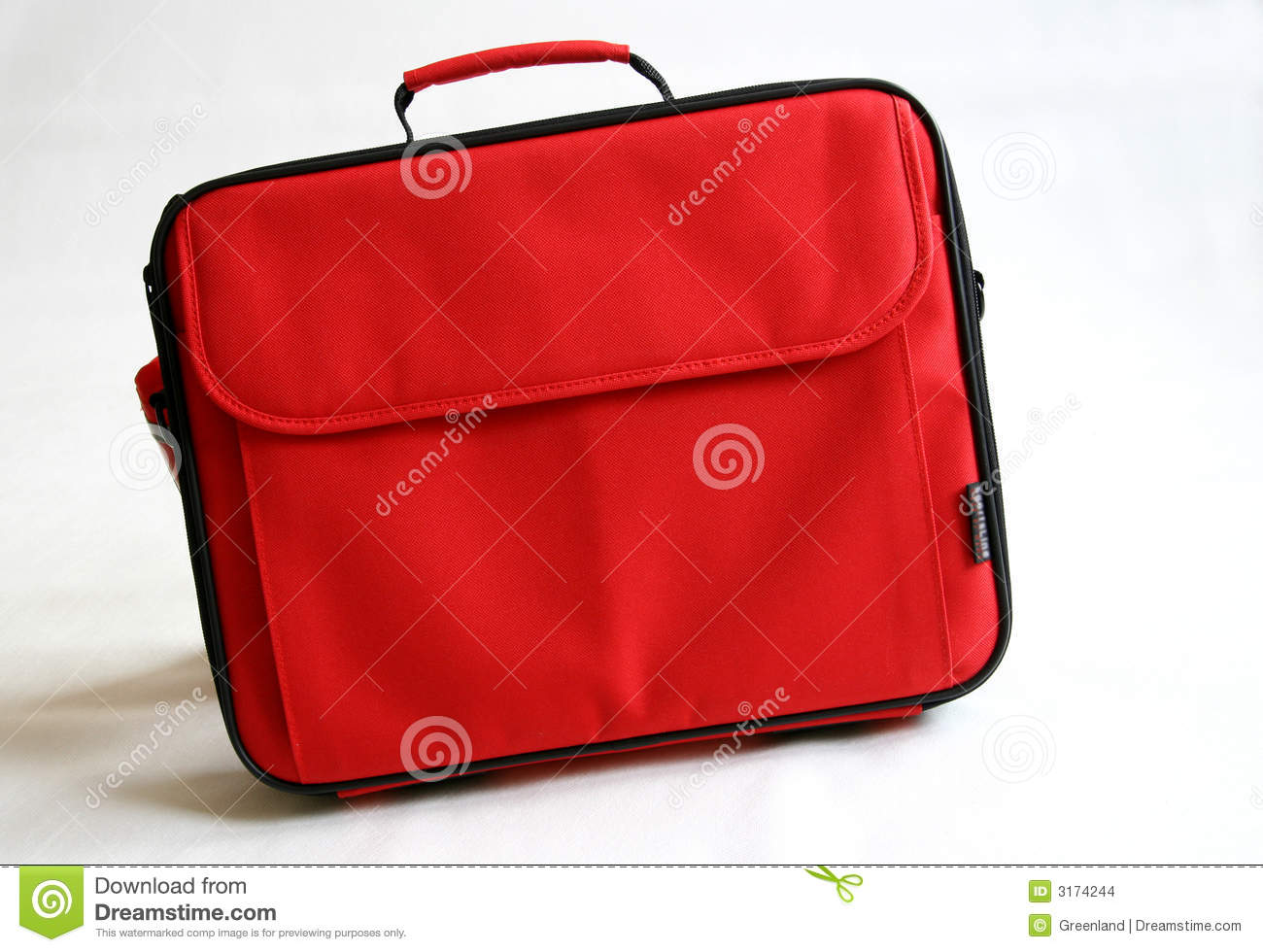 Red notebook bag