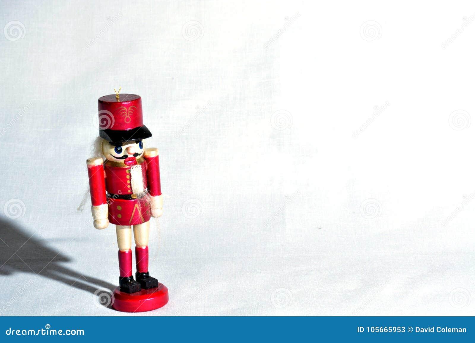Red Nutcracker Christmas Decoration Stock Image - Image of figurine ...