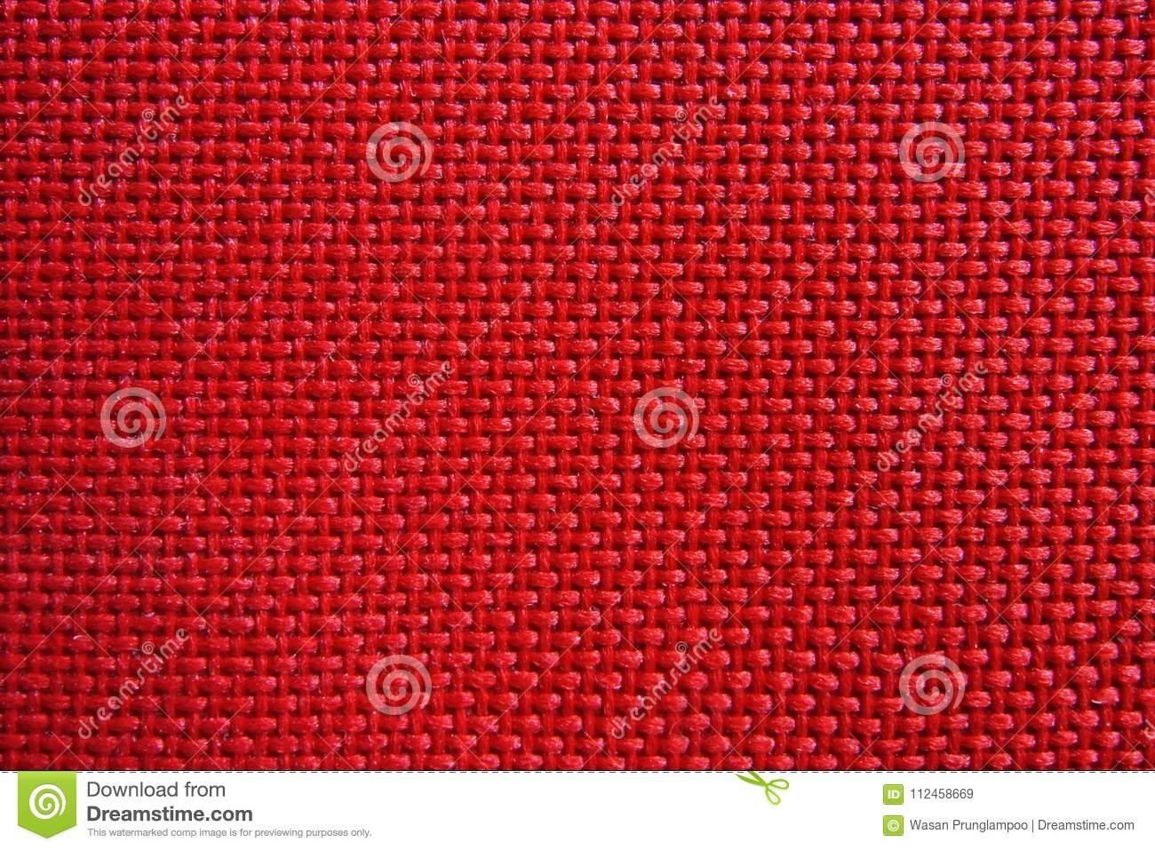 Red nylon fabric pattern texture.
