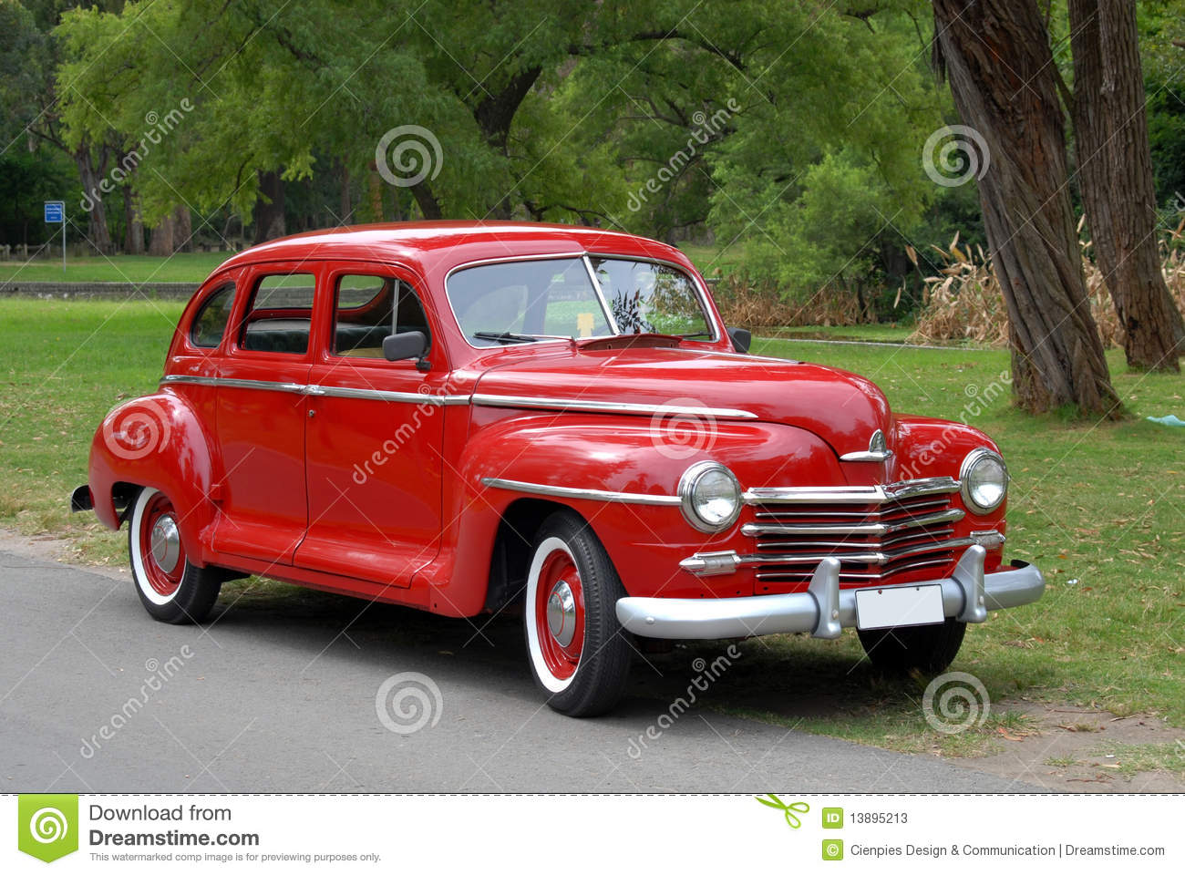 Red old fashioned car stock image. Image of classic, aged - 13895213