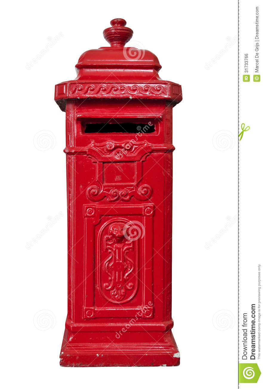 Red old mailbox royalty free stock image image 31733766 for What to do with old mailbox