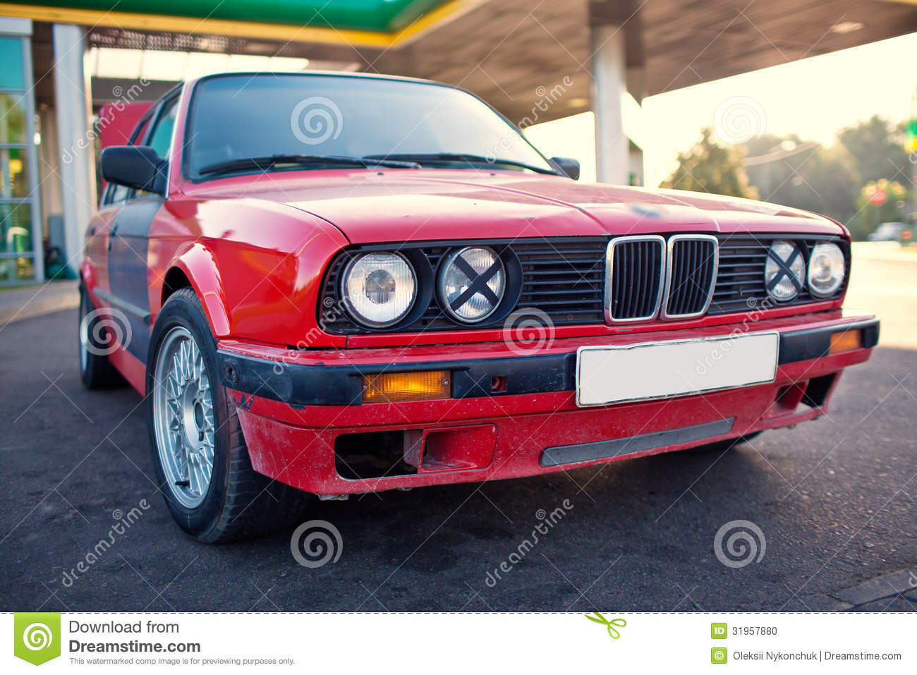 Red Old Sports Car Stock Photo Image Of Vehicle Single 31957880