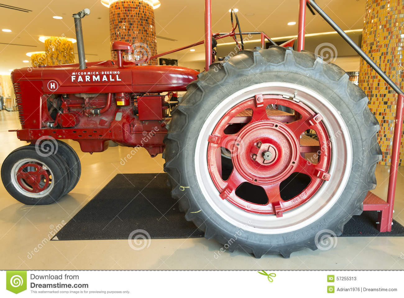 Tractor Brand Names : Red old tractor editorial stock photo image of america