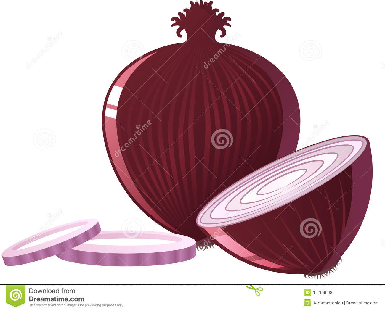 Red Onion Royalty Free Stock Photos - Image: 12704098