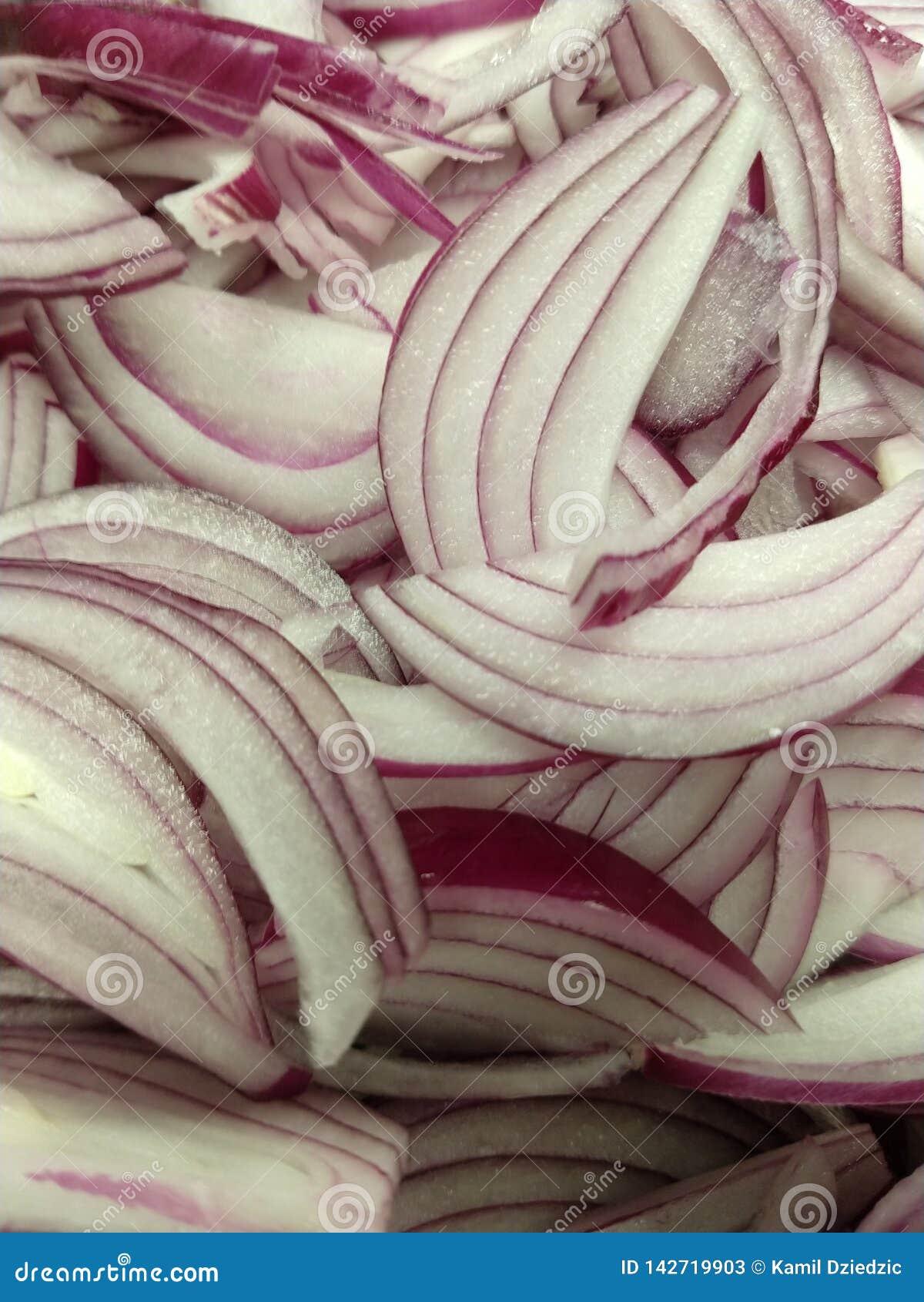 red onion slice juicy