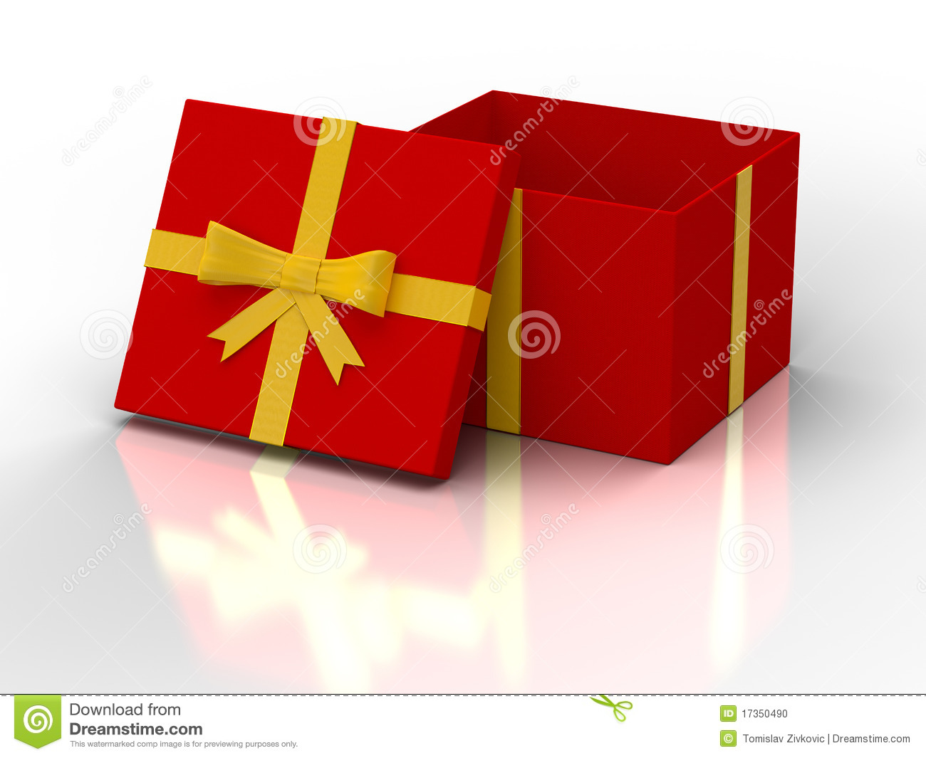 Red Open Gift Box Stock Photo - Image: 17350490