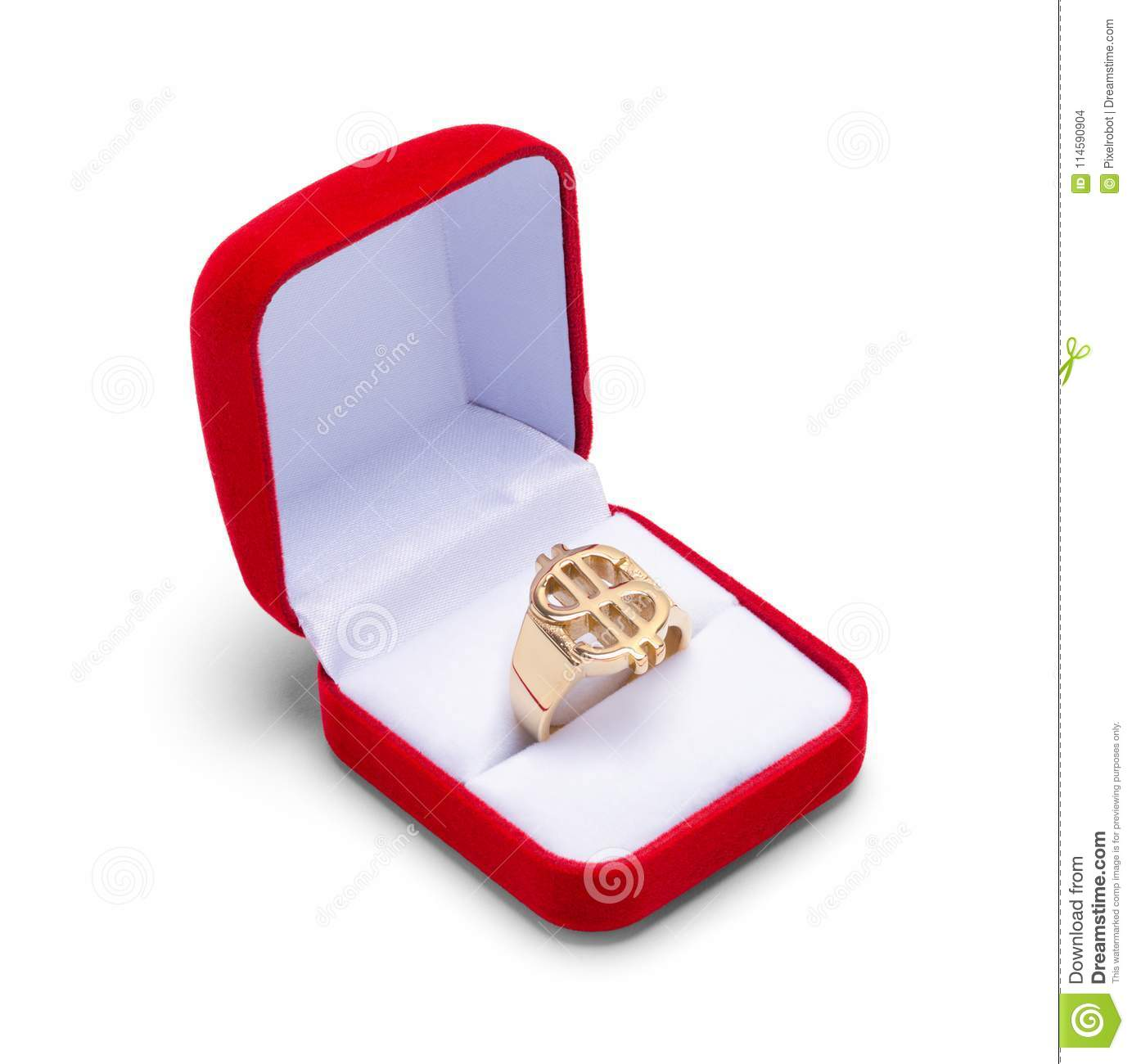 d47a15e46 Open Jewelry Box With Money Ring Stock Photo - Image of white, cash ...