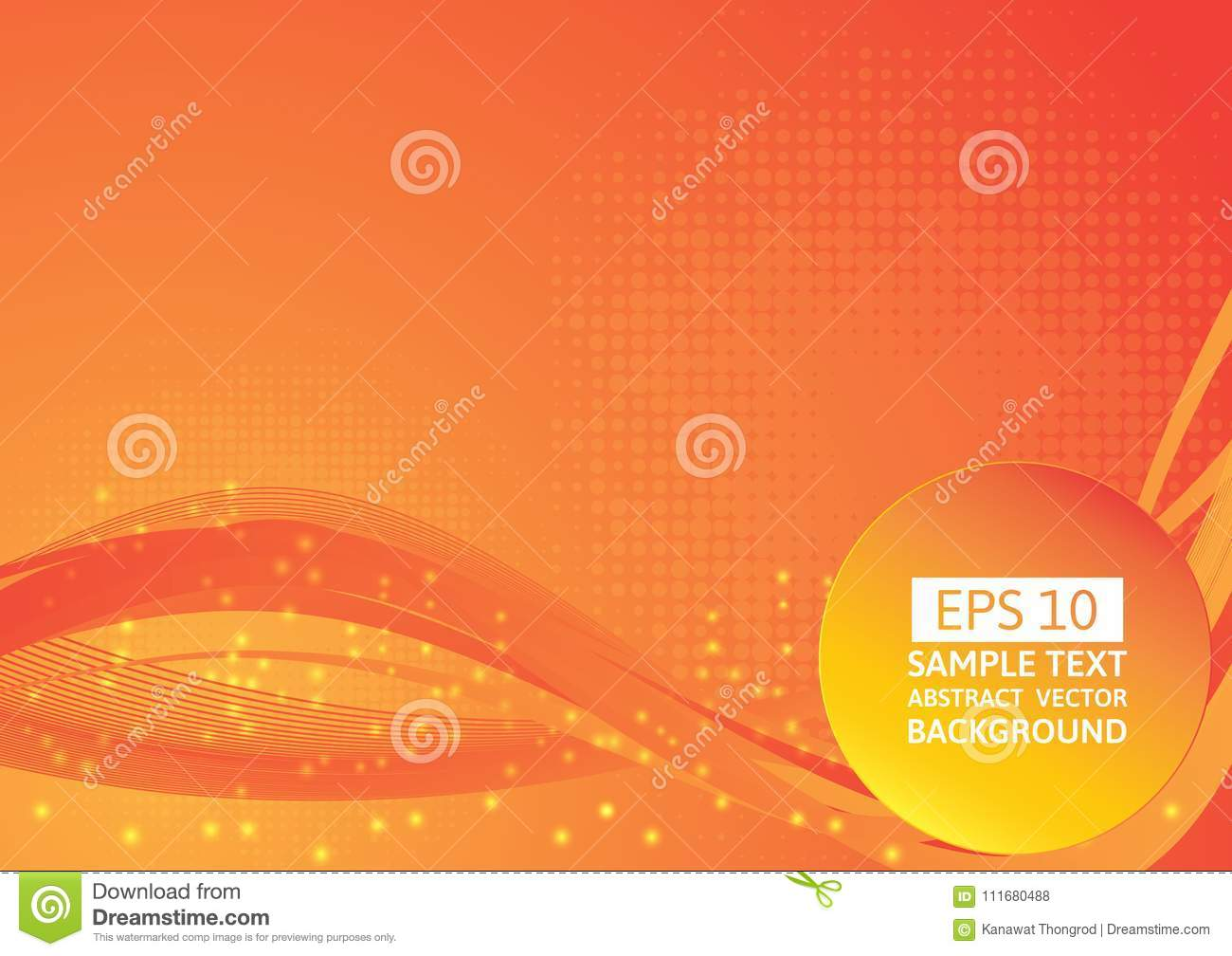 Red And Orange Color Wave Abstract Background Vector