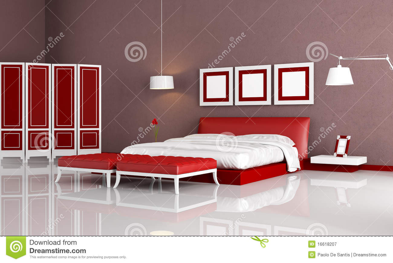 Red And Orange Living Room Royalty Free Stock Photography Image 16618207