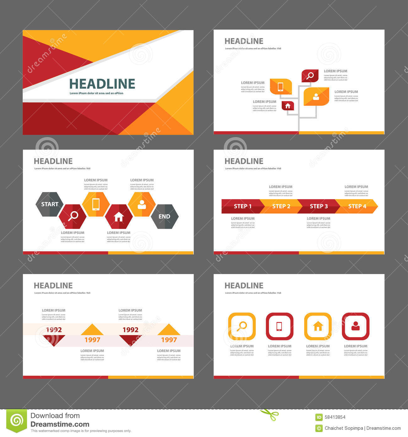 red and orange multipurpose brochure flyer leaflet website red and orange multipurpose brochure flyer leaflet website template flat design